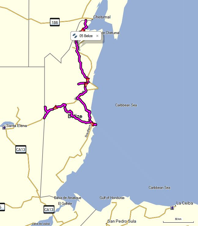 Route Belize